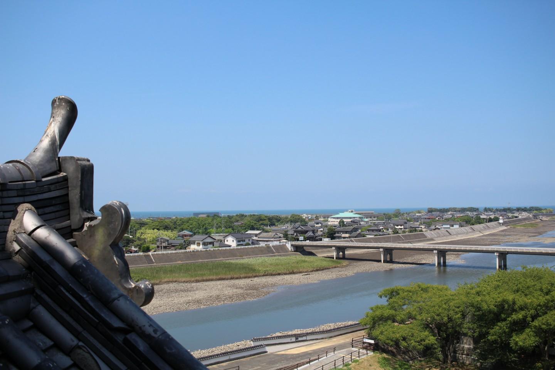 中津城からの風景の写真