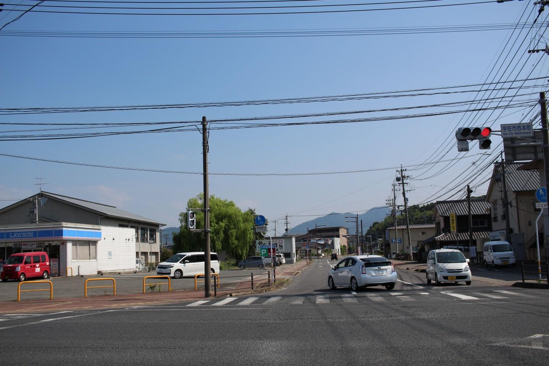 大分県道44号の交差点の写真