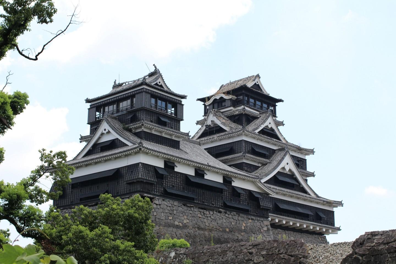 震災後の熊本城の写真