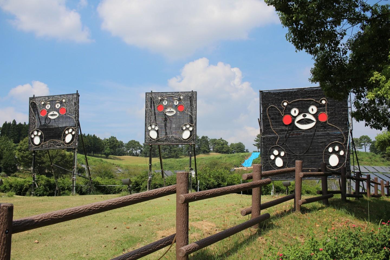熊本益城大津線のくまモンの写真