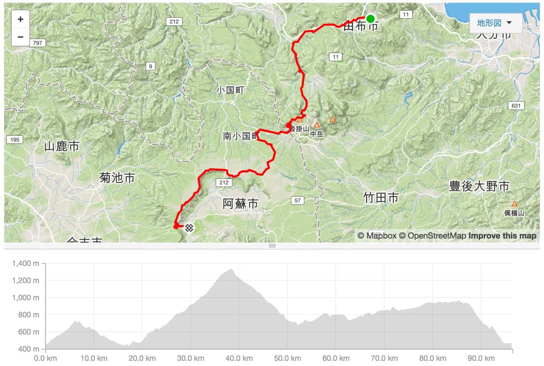 ツール・ド・九州 第3ステージのコース図