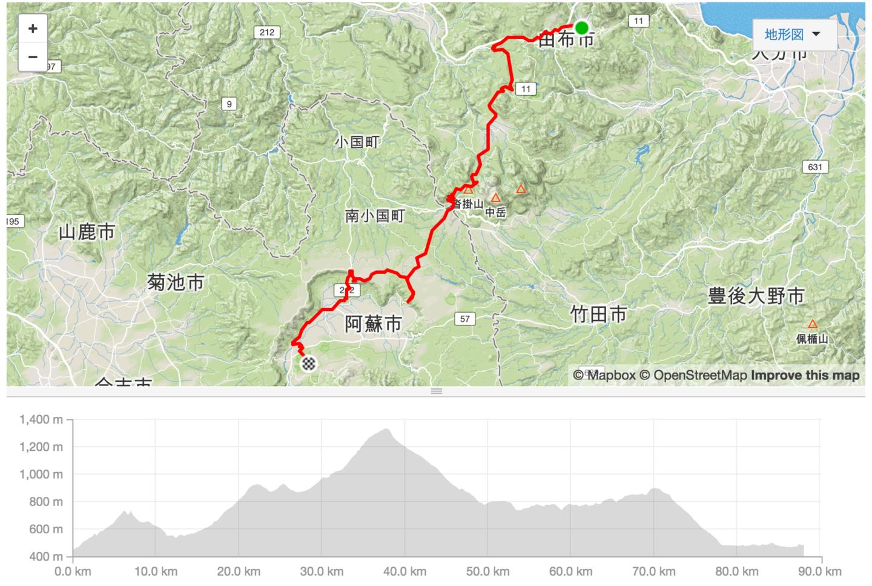 ツール・ド・九州 第3ステージ 修正版のコース図