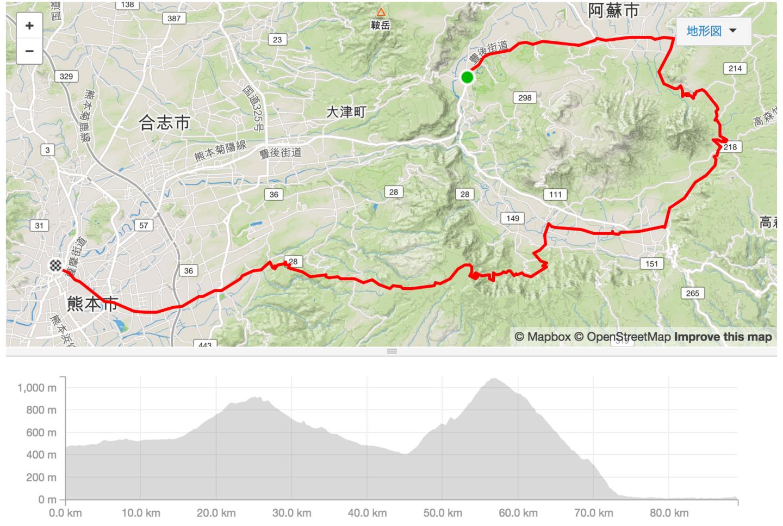 ツール・ド・九州 第4ステージのコース図