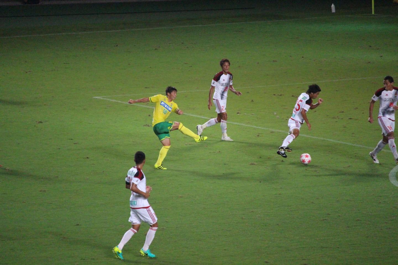 天皇杯 2回戦 千葉 VS 金沢 長澤のゴールの写真1