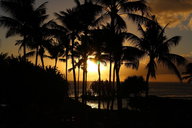 夕焼けのコオリナビーチの写真