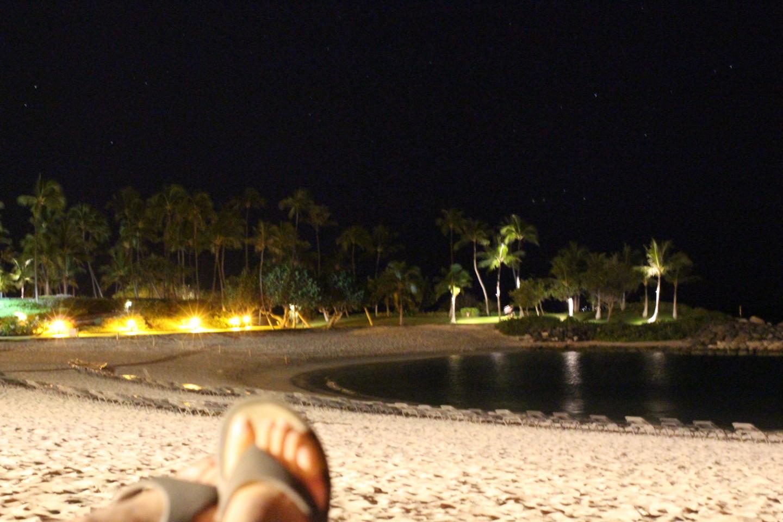夜のコオリナビーチの写真