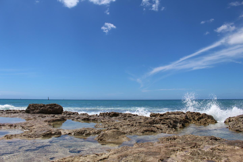 コオリナビーチパークからの海の写真