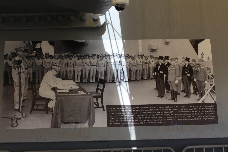 太平洋戦争降伏文書調印式の写真