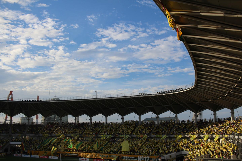 J2 第35節 千葉 VS 京都 試合前のフクアリの写真