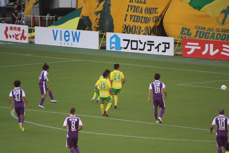 J2 第35節 千葉 VS 京都 堀米選手の先制ゴールの写真