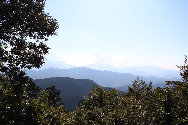 高尾山山頂からの景色の写真