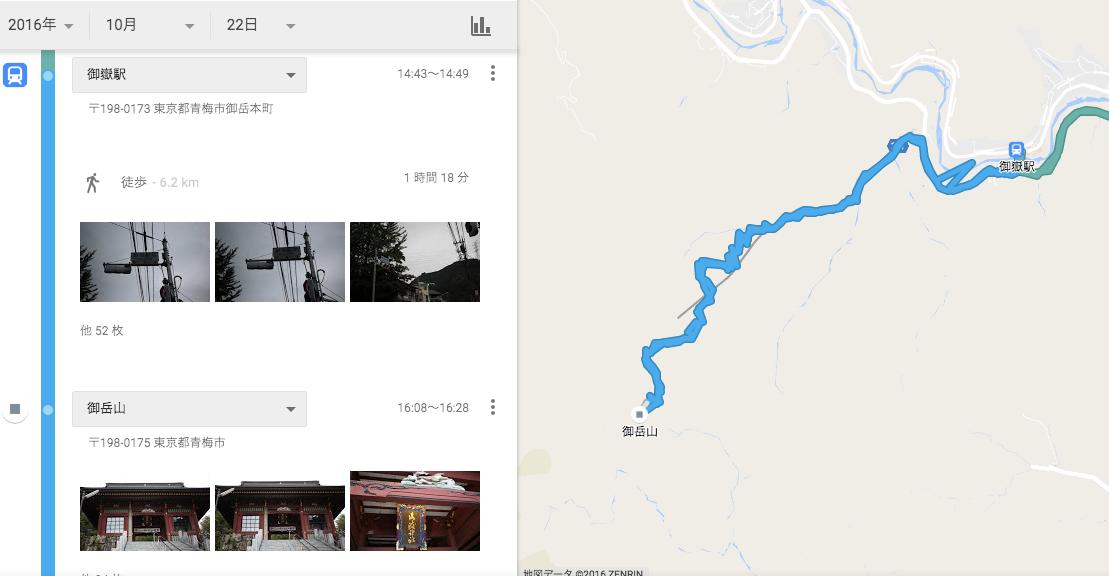 御岳山登山ルート図