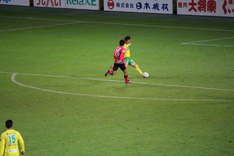 J2 第39節 千葉 VS C大阪 井出選手のゴールの写真