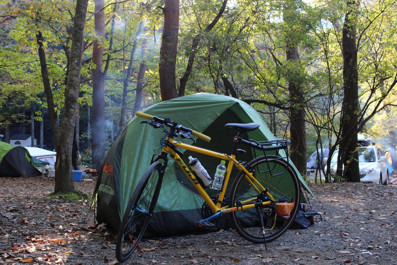 道志の森キャンプ場にてフジ パレットの写真