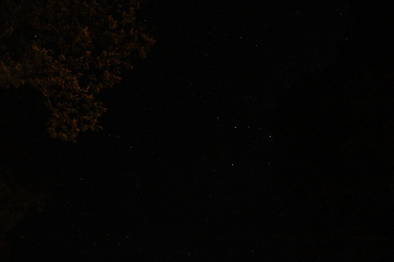 道志の森キャンプ場にて星空の写真