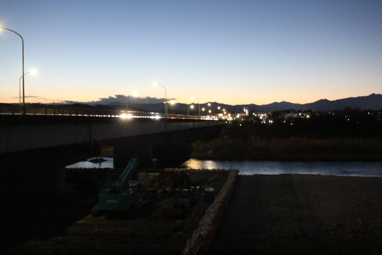 睦橋からの夕景写真