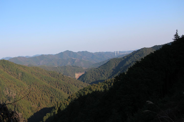 仁田山峠からの景色の写真