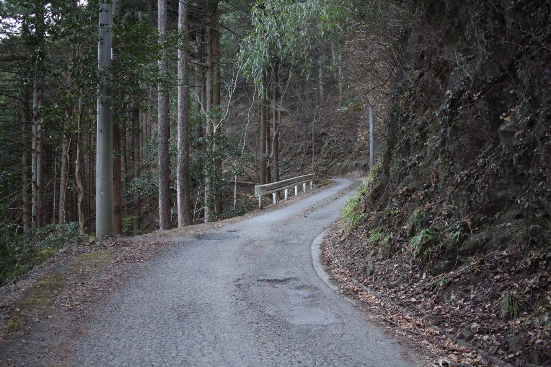 飯能市 竹寺前の坂の写真