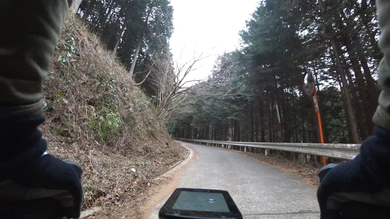 林道南山をダンシング中の写真