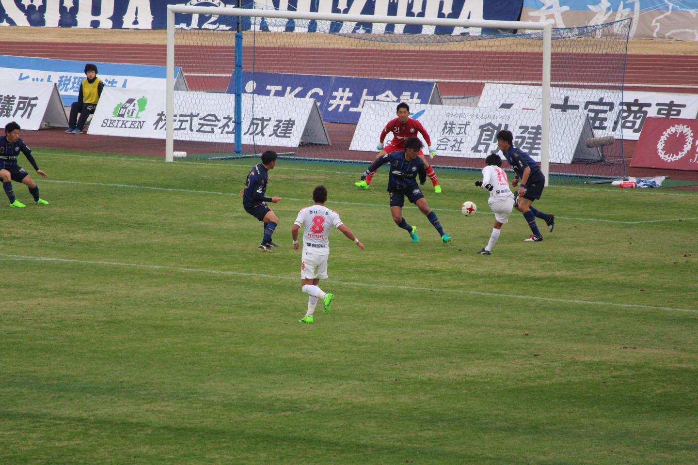 J2 第1節 町田 VS 千葉 町田選手のゴールシーンの写真