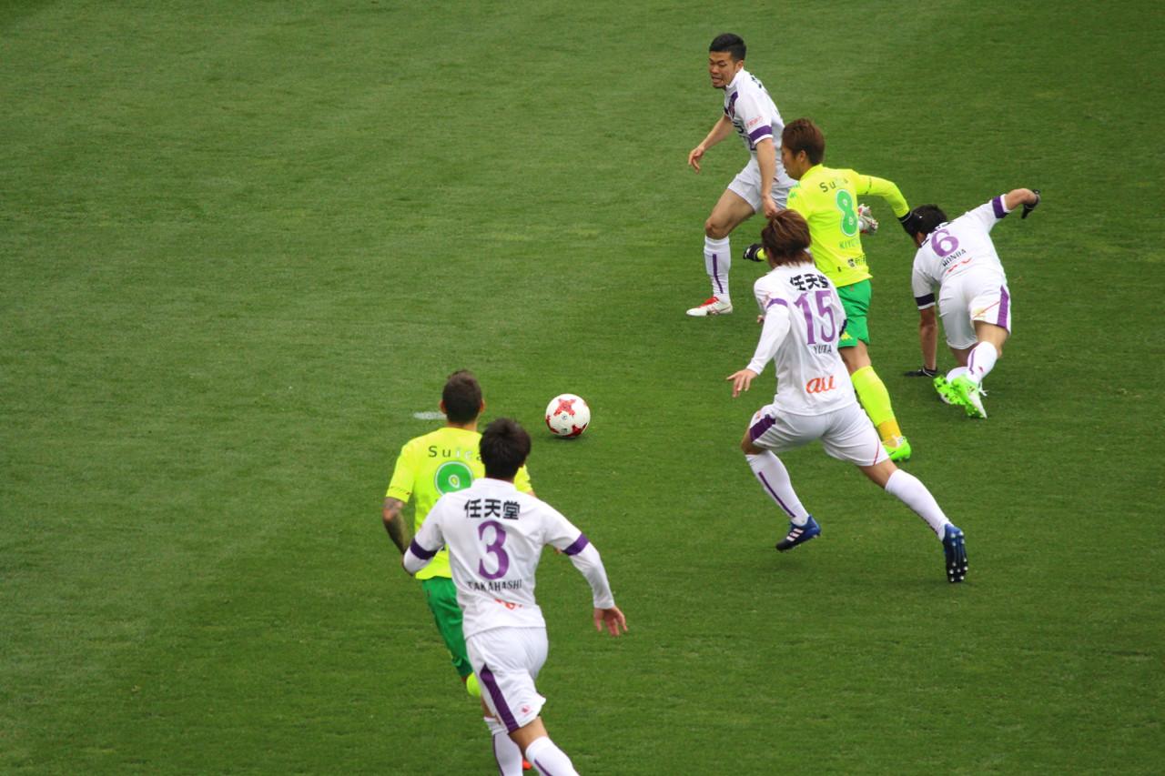 J2 第6節 千葉 VS 京都 清武選手のゴールの写真