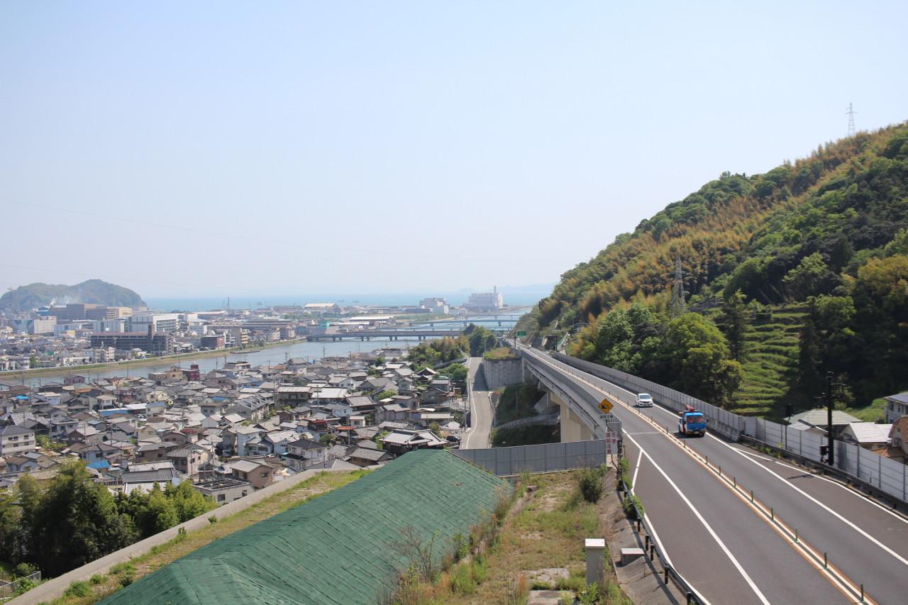 呉市 延寿荘あたりから見える海の写真