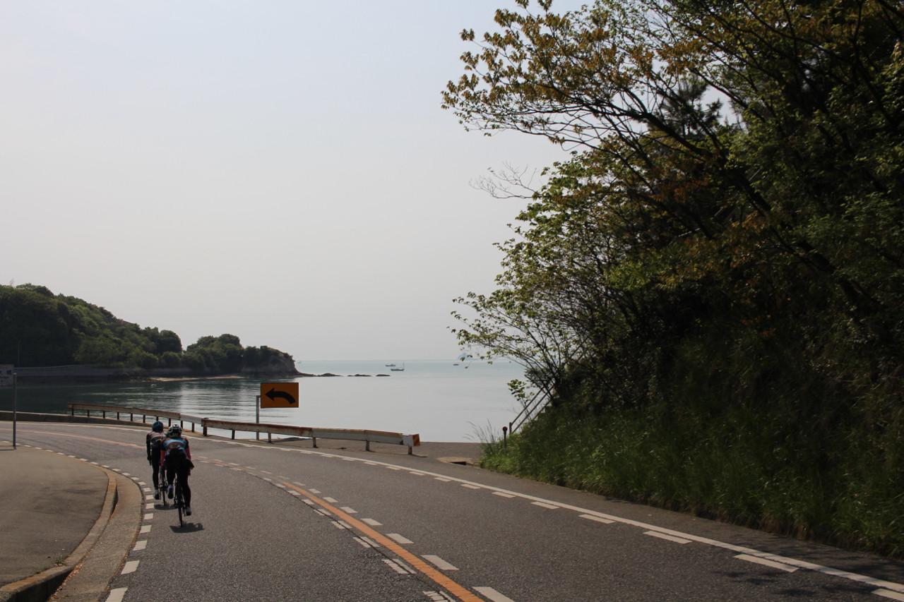 しまなみ海道 向島から見える海の写真