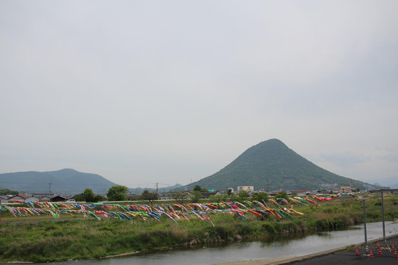 讃岐富士と鯉のぼりの写真