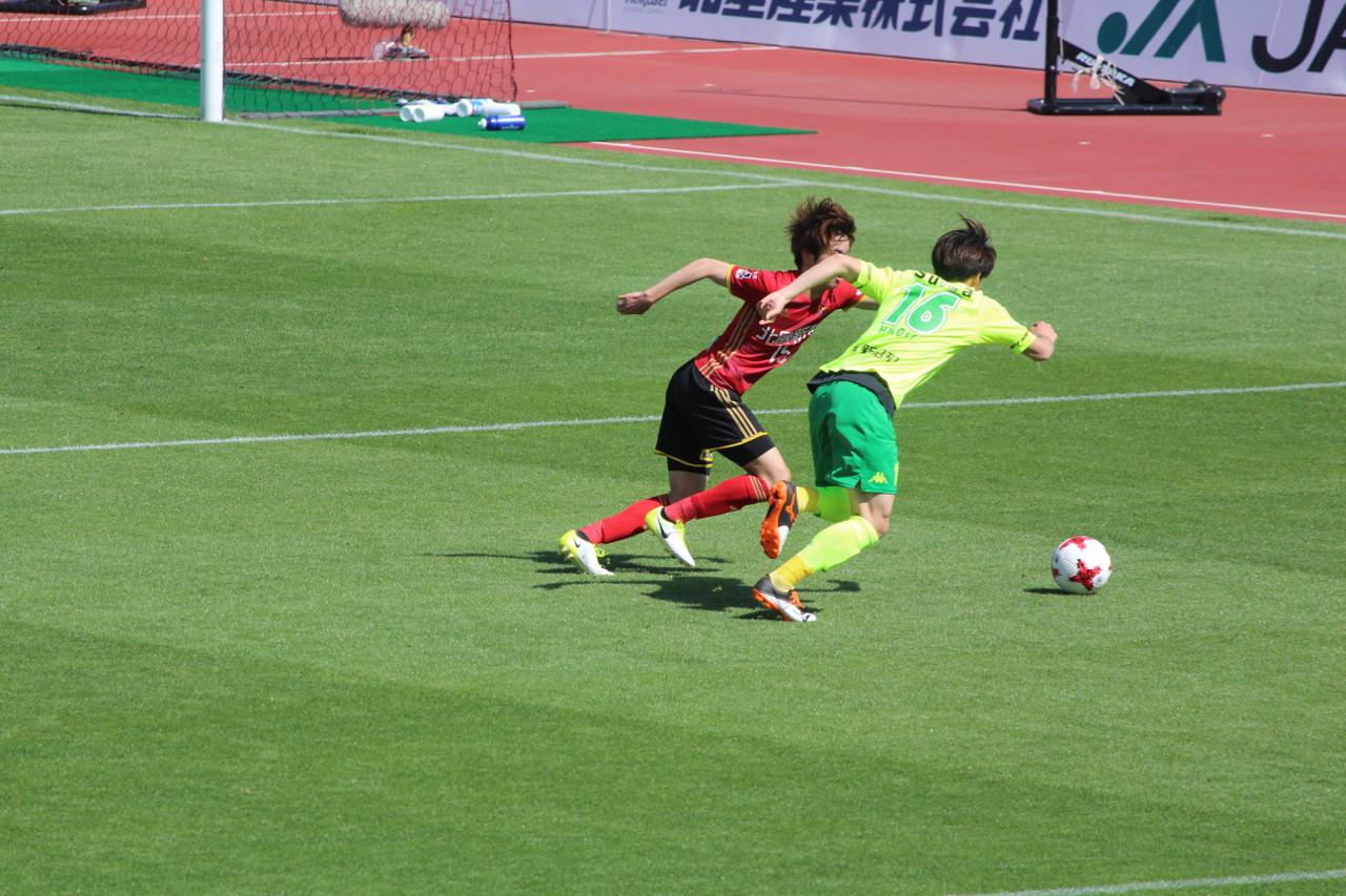 J2 第12節 金沢 VS 千葉 今年初出場の菅嶋選手の写真