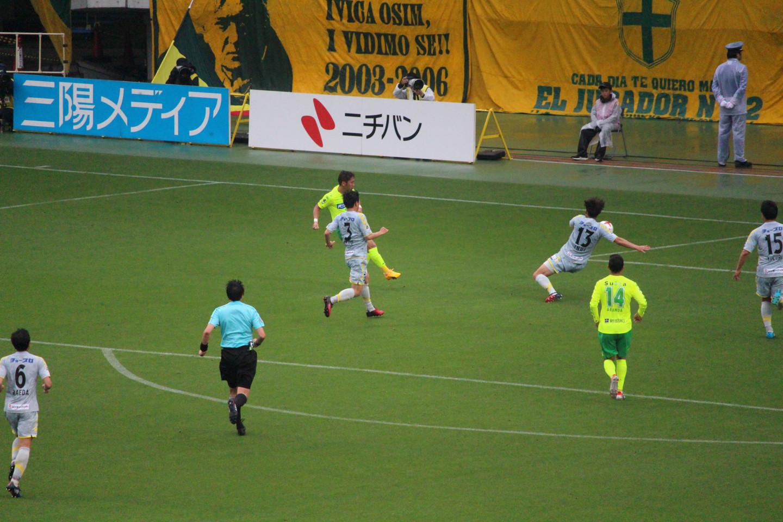 J2 第13節 千葉 VS 長崎 清武選手のハットトリックの写真