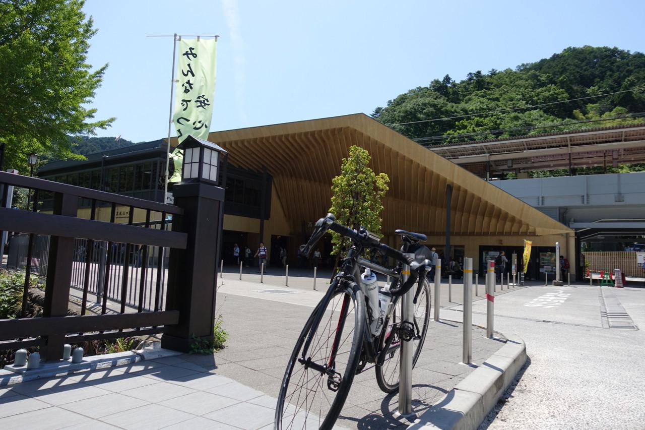 高尾山口駅にてFUJI ROUBAIXの写真