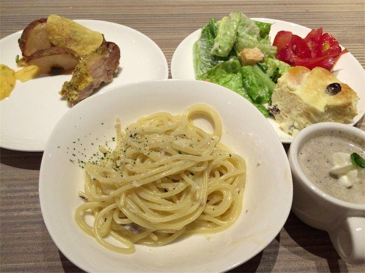 台湾のラウンジの美味しい食事