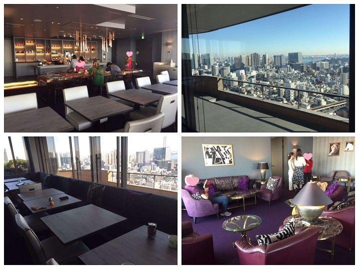 東京マリオットホテルのラウンジの昼間の様子