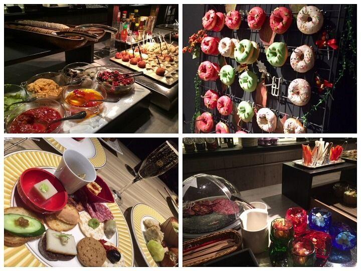 東京マリオットホテルのラウンジのイブニングカクテルの食事