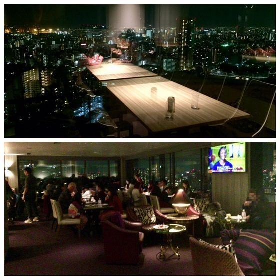 東京マリオットホテルのイブニングカクテルタイムのラウンジの様子