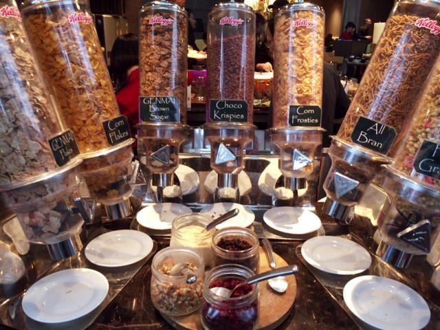 東京マリオットホテルの朝食のシリアル