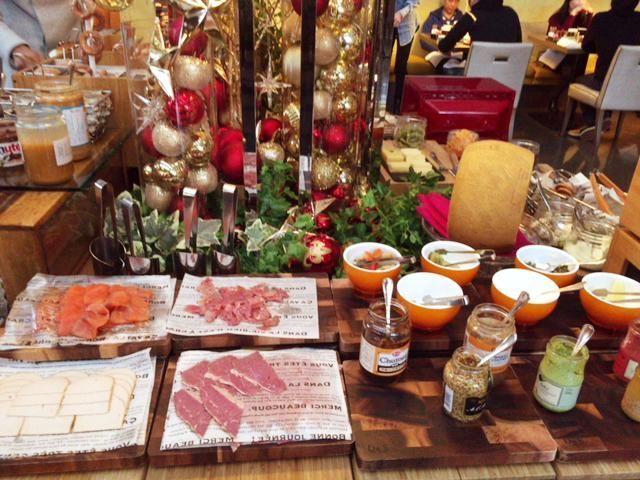 東京マリオットホテルの朝食ハムなど