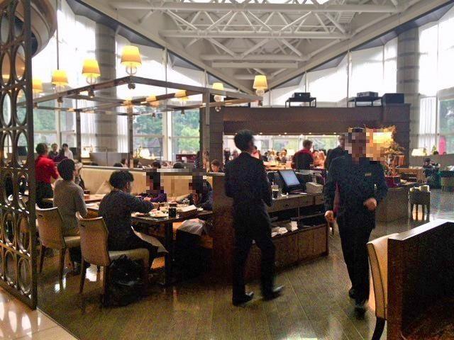 東京マリオットホテルの朝食会場「ラウンジ&ダイニングG」