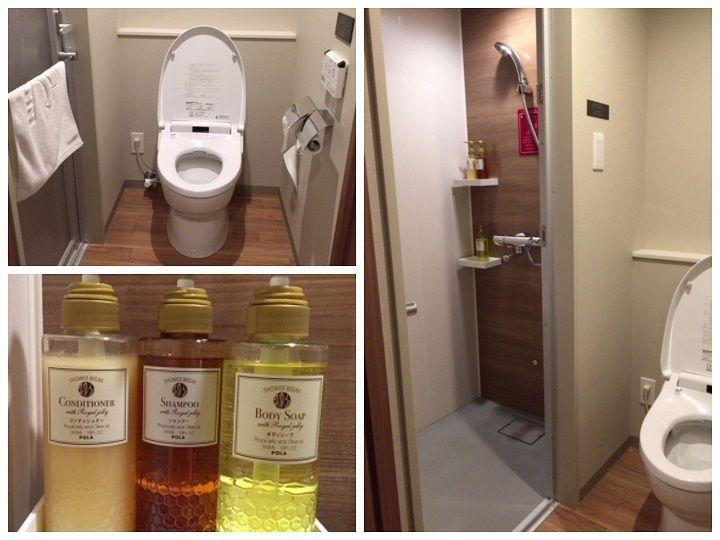 JRイン札幌駅南口ホテルのトイレとシャワールームの写真
