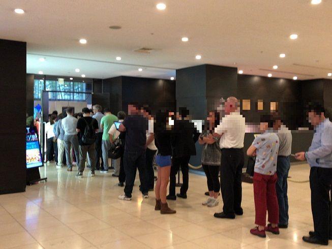 品川プリンスホテルの朝食会場の行列