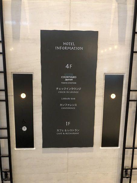 コートヤード東京ステーションホテルは4階