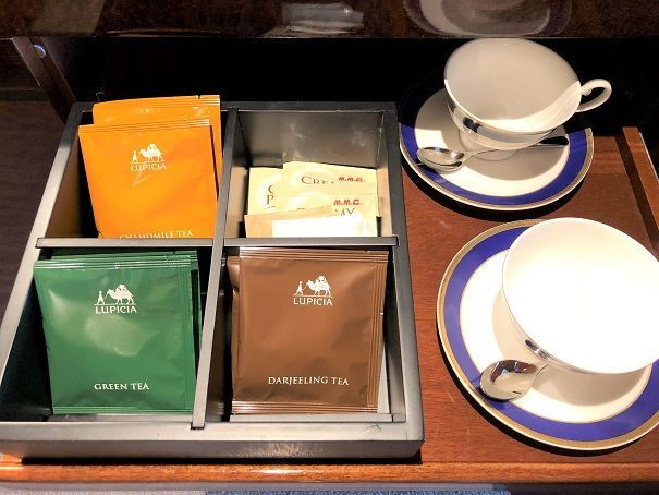 無料のコーヒー・紅茶・ミネラルウォーター類