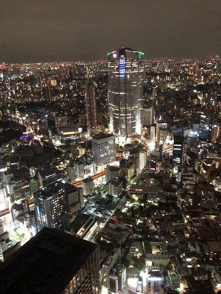 リッツカールトン東京のラウンジからの夜景