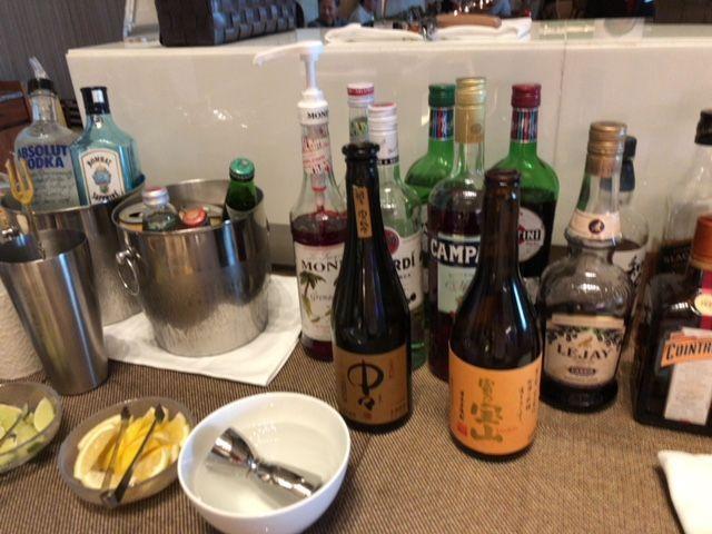 大阪マリオットのカクテルタイム(お酒)