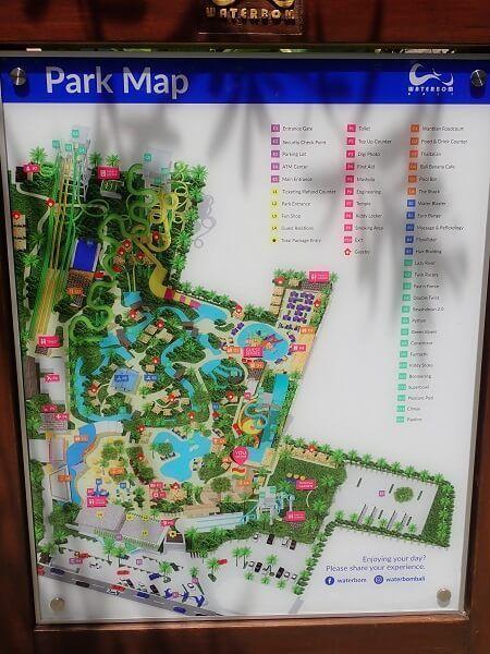ウォーターボムバリの地図