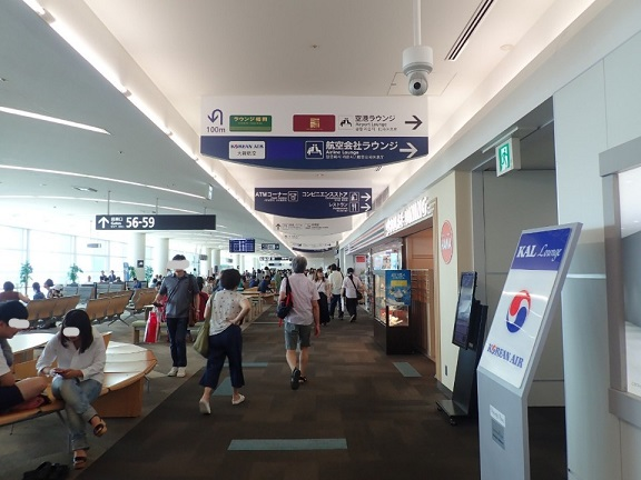 GWの福岡空港の制限エリアの様子