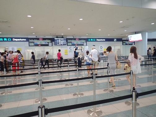 GWの福岡空港の保安検査の様子