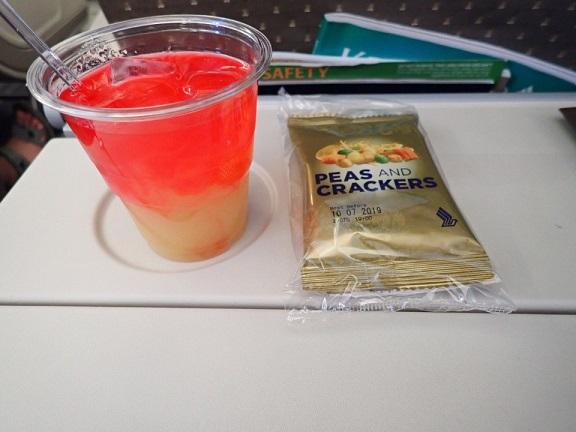 シンガポール航空のドリンク