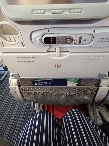 シンガポール航空の機内