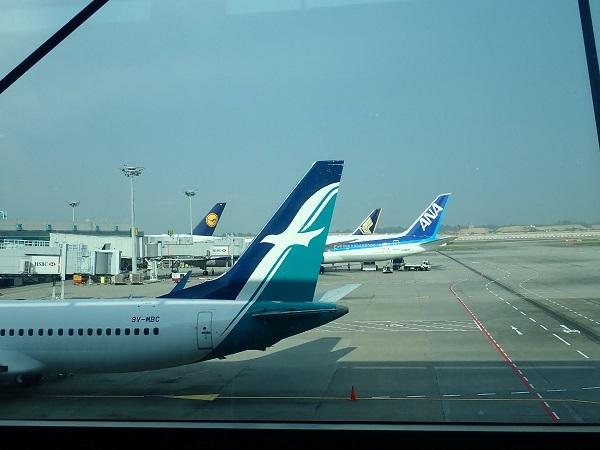 シンガポール航空到着